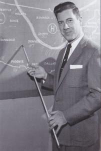 Joe as the Weatherman.