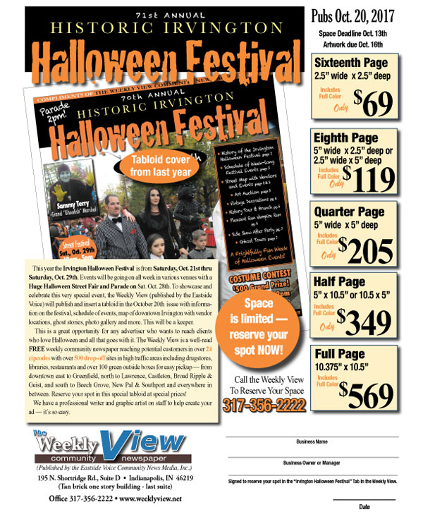 Advertise With Us! Historic Irvington Halloween Festival Guide ...