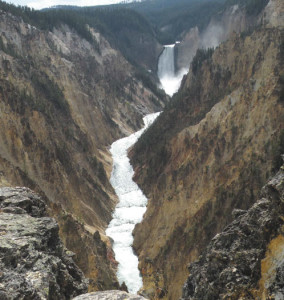 Paula Nicewanger/Weekly ViewWaterfall in Yellowstone.