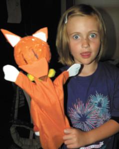 Paula Nicewanger/Weekly ViewThe Ladybug with her fox puppet.
